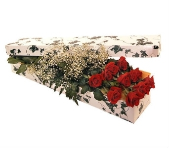 Dozen Red Roses in a Box in Scarborough ON, Brown's Flower Shop