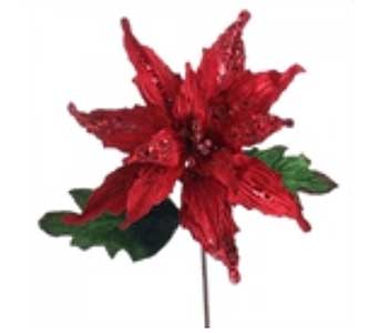 Red and Green Poinsettia in San Antonio TX, Best Wholesale Christmas Co