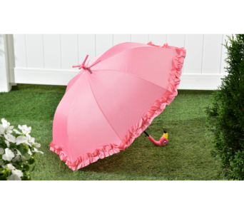 Pink Flamingo Umbrella in Bonita Springs FL, Heaven Scent Flowers Inc.