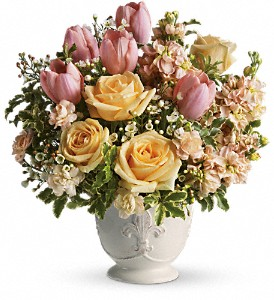 Teleflora's Peaches and Dreams in Campbell CA, Jeannettes Flowers