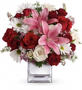 Teleflora's Happy in Love Bouquet in North Bay ON, The Flower Garden