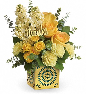 Teleflora's Shimmer Of Thanks Bouquet, FlowerShopping.com