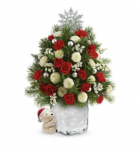 Send a Hug Cuddly Christmas Tree by Teleflora in Belen NM, Davis Floral