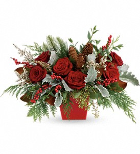 Winter Blooms Centerpiece in Lufkin TX, Bizzy Bea Flower & Gift