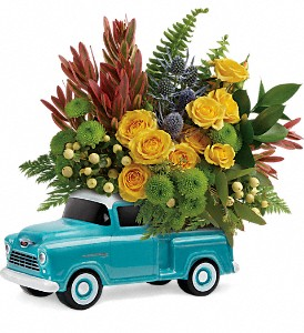 Timeless Chevy Pickup by Teleflora in Jackson MI, Brown Floral Co.