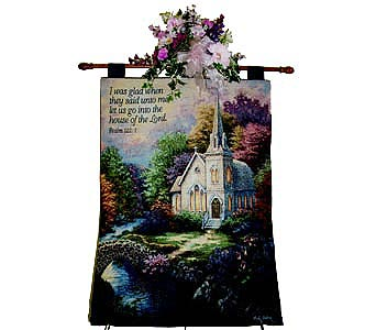 Tapestry - Church In The Woods in Nashville TN, Flowers By Louis Hody