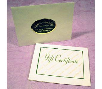Gift Certificate in Brownsburg IN, Queen Anne's Lace Flowers & Gifts