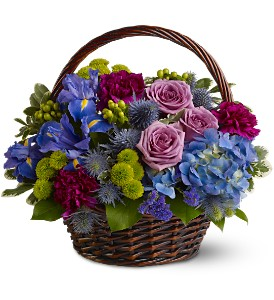 Twilight Garden Basket in Santa Monica CA, Edelweiss Flower Boutique
