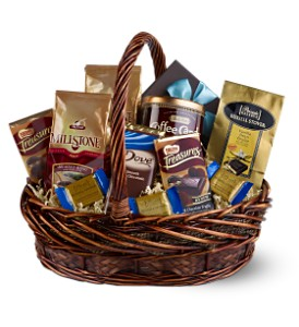 Chocolate & Coffee Basket in Calgary AB, All Flowers and Gifts