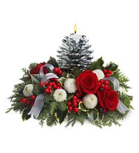 Teleflora's Silver Pinecone BouquetSale! in Philadelphia PA, Lisa's Flowers & Gifts