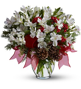 First Snowfall Deluxe in Raritan NJ, Angelone's Florist - 800-723-5078
