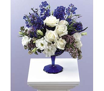 Crisp blue and white flowers in Portland OR, Portland Florist Shop