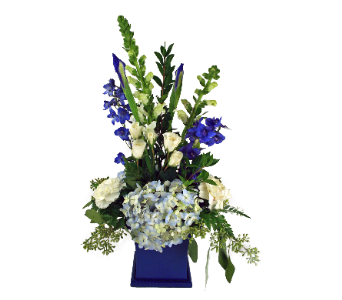 Blue & White Pride in Indianapolis IN, McNamara Florist