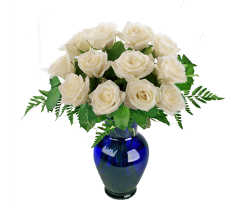 White Roses in Indianapolis IN, McNamara Florist
