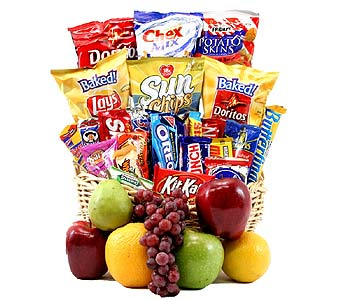 Classic Snack Gift Basket with Fruit in Birmingham AL, Norton's Florist