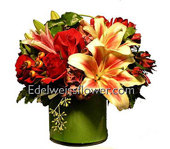 Modern Jazz Flower Bouquet in Santa Monica CA, Edelweiss Flower Boutique