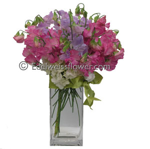 To My Sweetpea Flower Bouquet in Santa Monica CA, Edelweiss Flower Boutique
