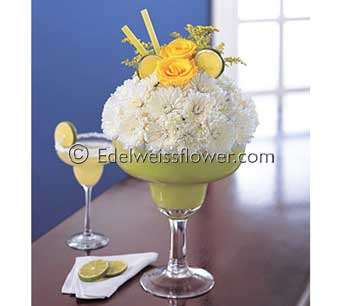 Happy Margarita (Lime) Flower Bouquet in Santa Monica CA, Edelweiss Flower Boutique