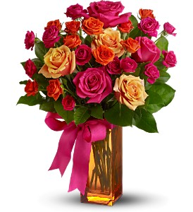 Teleflora's Sunset Kiss in Chicago IL, La Salle Flowers
