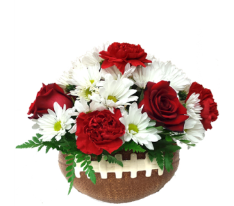 Football Bouquet in School Colors in Birmingham AL, Norton's Florist