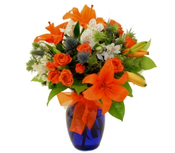Mixed Flower Bouquet in School Colors in Birmingham AL, Norton's Florist