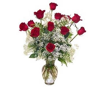 True love 12 Long Stem Red Roses in Port St Lucie FL, Flowers By Susan