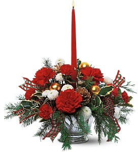 Celebrate the Season Centerpiece in Milford MI, The Village Florist