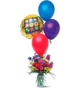 Balloons and a Boost in Kingston ON, Pam's Flower Garden