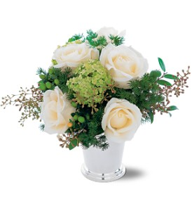 Silver Mint Julep Bouquet in Shawano WI, Ollie's Flowers Inc.