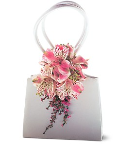 Ruffled Pinks Purse Corsage in Chicago IL, La Salle Flowers