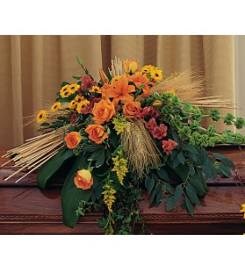 Autumn Faith Casket Spray in Calgary AB, All Flowers and Gifts