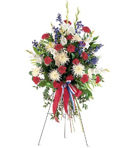 Patriotic Spirit Spray in St. Louis MO, Walter Knoll Florist