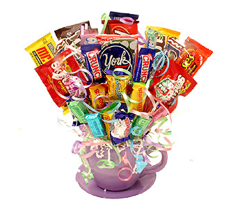 Teacup Candy Bouquet in Birmingham AL, Norton's Florist