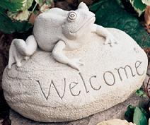 Frog Welcome Carruth in Perrysburg & Toledo OH  OH, Ken's Flower Shops