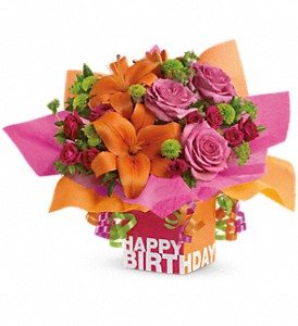 Teleflora's Rosy Birthday Present in Calgary AB, All Flowers and Gifts
