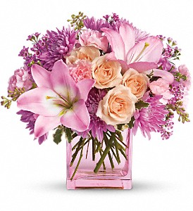 Teleflora's Possibly Pink in Brownsburg IN, Queen Anne's Lace Flowers & Gifts