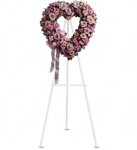 Rose Garden Heart in Santa Monica CA, Edelweiss Flower Boutique