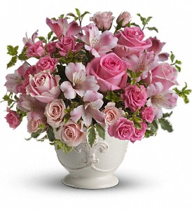 Teleflora's Pink Potpourri Bouquet with Roses in Brownsburg IN, Queen Anne's Lace Flowers & Gifts