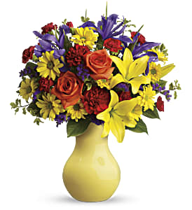 Start the Party Bouquet by Teleflora in Bay City MI, Keit's Flowers