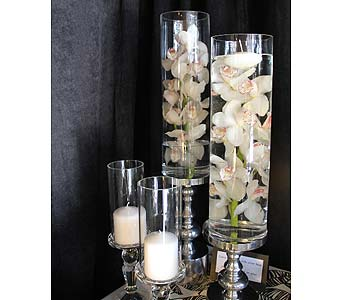 Glass Cylinder and Candle holder Rentals in Kingston ON, Pam's Flower Garden