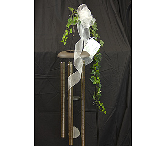 Windchimes on Stand in Brownsburg IN, Queen Anne's Lace Flowers & Gifts