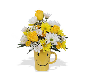 HAPPY FACE MUG BOUQUET in St. Louis MO, Walter Knoll Florist