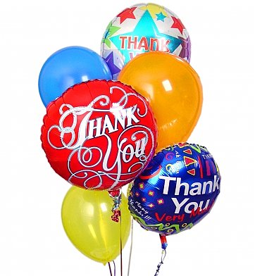 Thank You Balloon Bouquet in Port St Lucie FL, Flowers By Susan