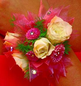 Pink Sparkle Corsage in Perrysburg & Toledo OH  OH, Ken's Flower Shops