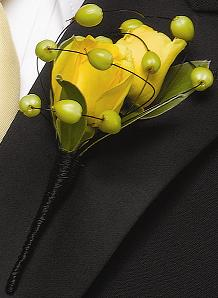Berry Yellow Boutonniere in Perrysburg & Toledo OH  OH, Ken's Flower Shops