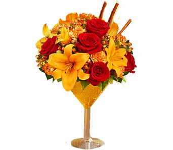 Pumpkin Spice Martini Bouquet in Santa Monica CA, Edelweiss Flower Boutique