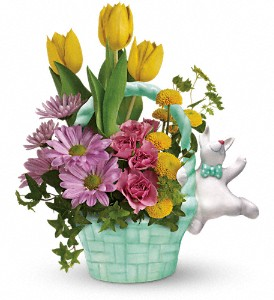 Teleflora's Send a Hug Funny Bunny Bouquet in North Olmsted OH, Kathy Wilhelmy Flowers
