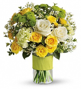 Your Sweet Smile by Teleflora in Brownsburg IN, Queen Anne's Lace Flowers & Gifts