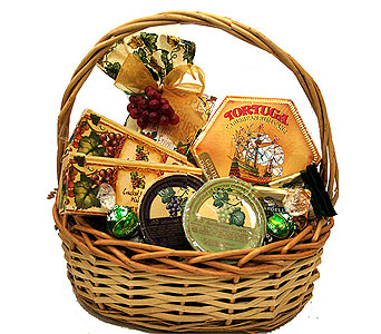 Wine Mixer and Rum Cake Gourmet Basket in Birmingham AL, Norton's Florist