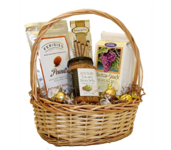 Artichokes & Tomato Brochettes Party Basket in Birmingham AL, Norton's Florist